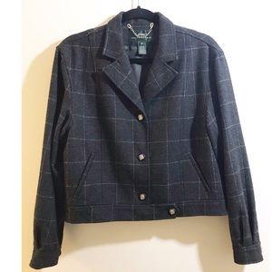 Ralph Lauren 100% Lambswool Short Blazer 12